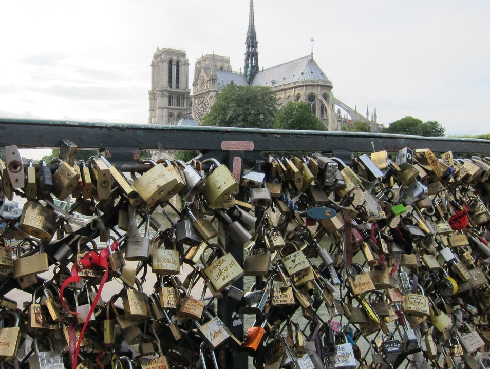 Love locks in Paris Paris  France