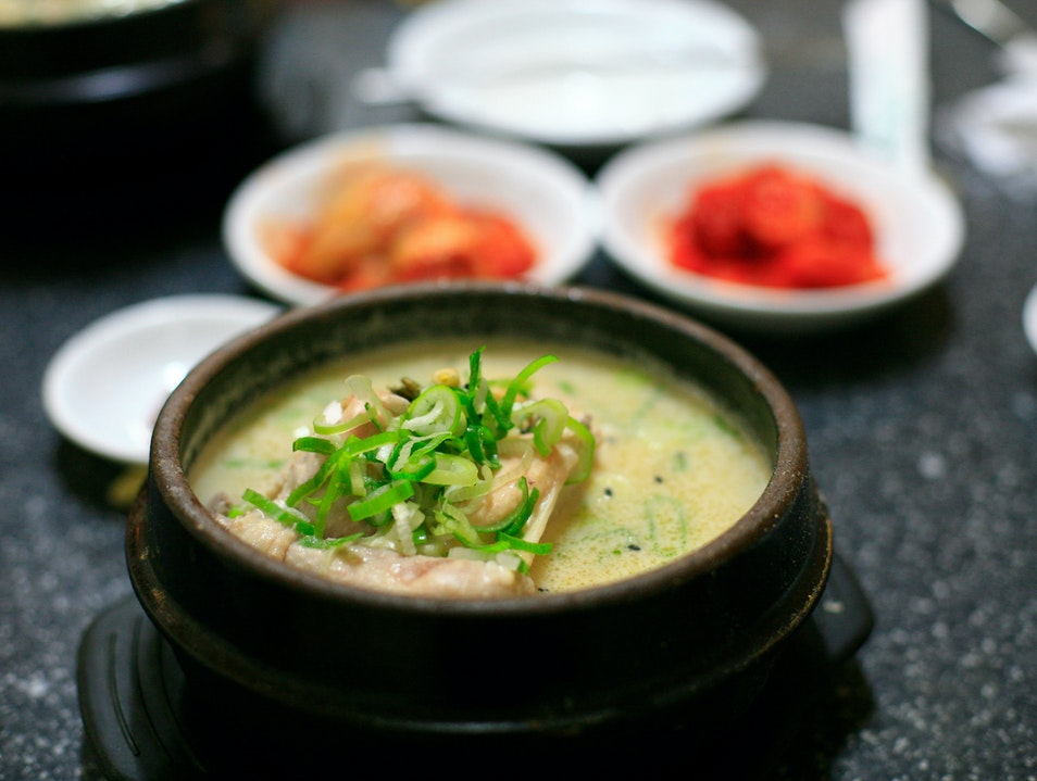 A Steaming Bowl of Ginseng Chicken Soup