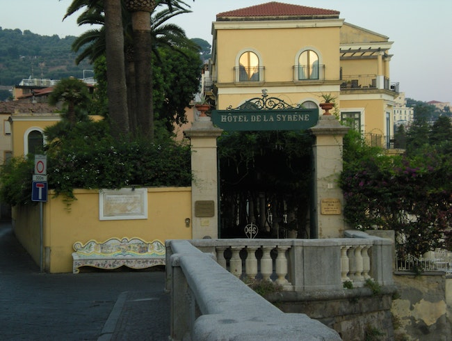 A top Sorrento, the Hotel Bellevue Syrene