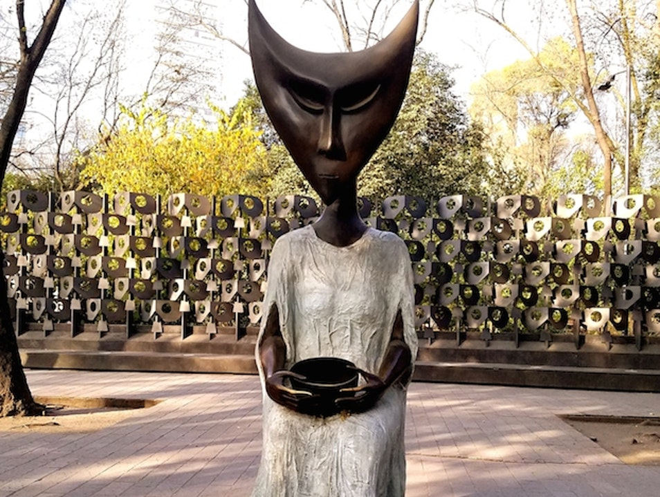 Leonora Carrington Sculptures on Paseo de la Reforma Mexico City  Mexico