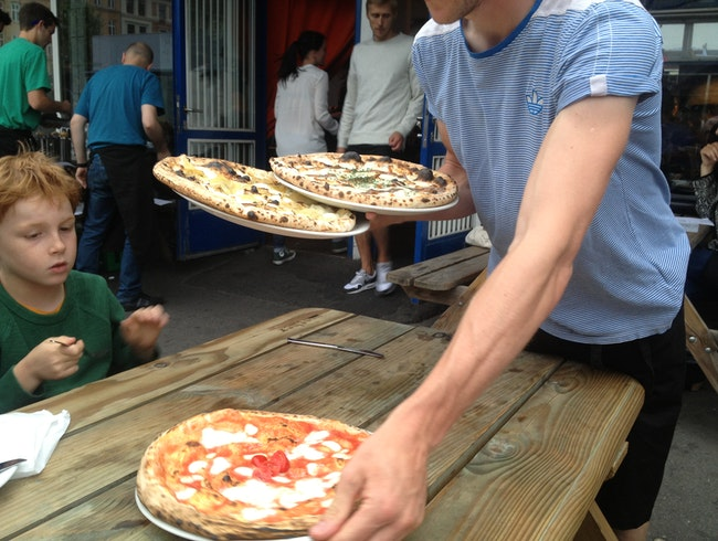 Wood-fired pizza in Copenhagen's Meatpacking District
