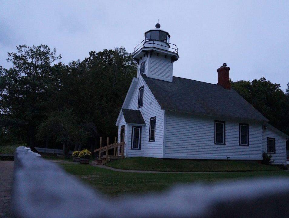 Hidden Lighthouse in Michigan Wine Country Traverse City Michigan United States