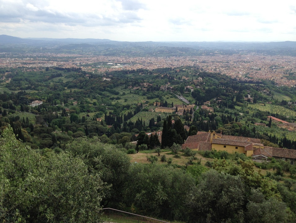 Views of Florence from a Hilly Etruscan Town Fiesole  Italy
