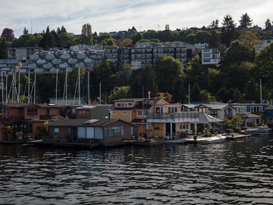 Stylish Houseboats on Lake Union Seattle Washington United States