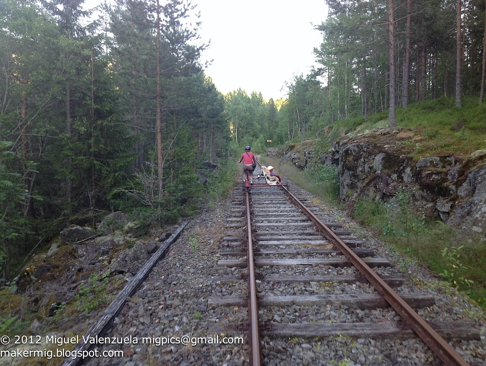 Biking on the Tracks Rollag  Norway