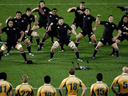 All Blacks Rugby Test at Eden Park Auckland  New Zealand