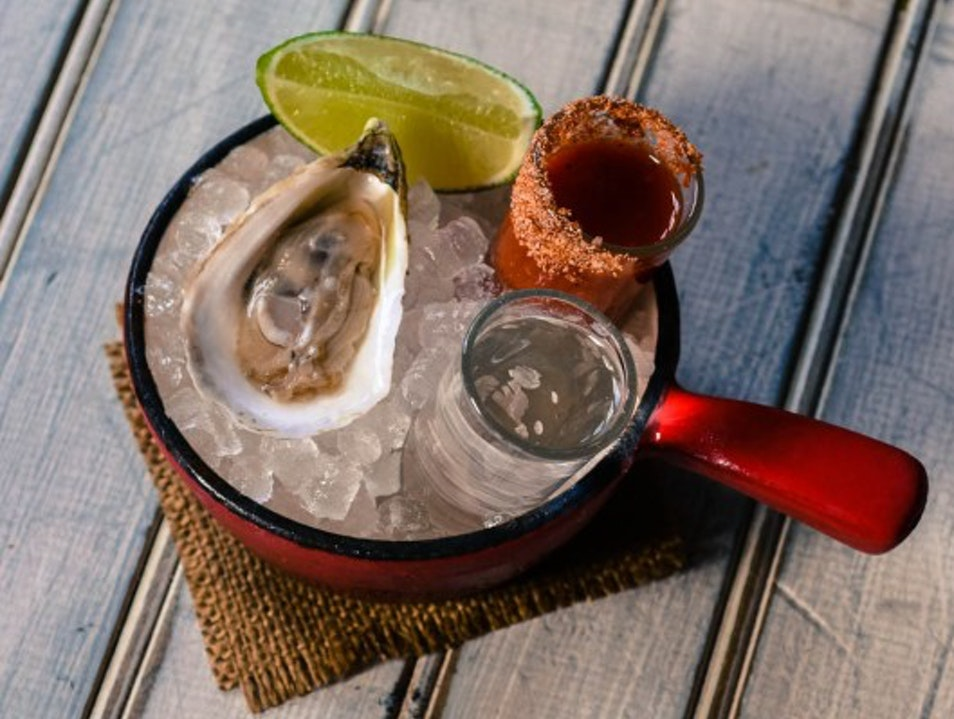 Oyster Shooters on a New York Afternoon