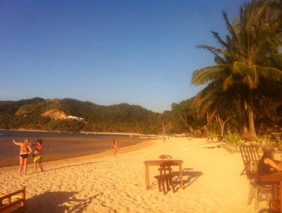 Relax at Las Cabanas Beach El Nido  Philippines