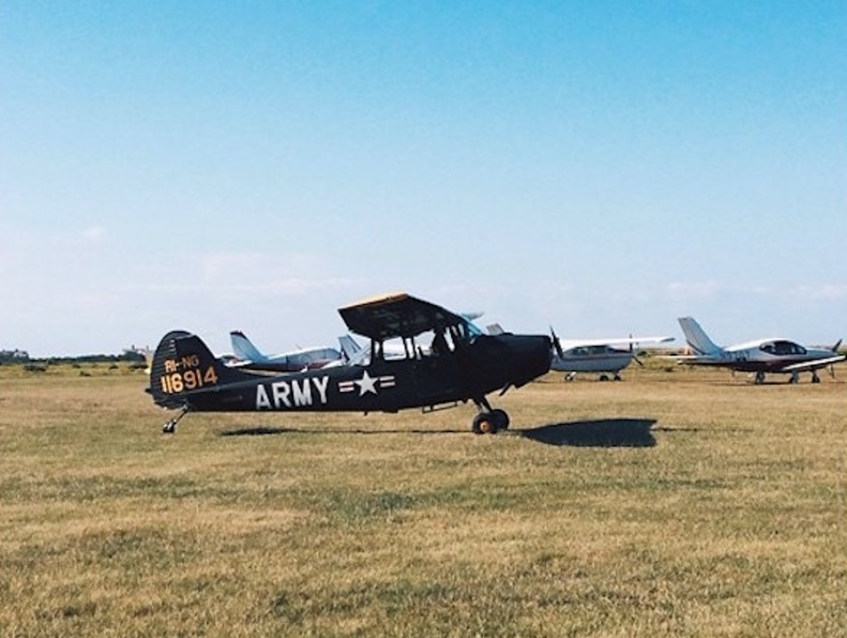 Watch Vintage Planes Take Off, Do Tricks, and Land by the Beach Edgartown Massachusetts United States