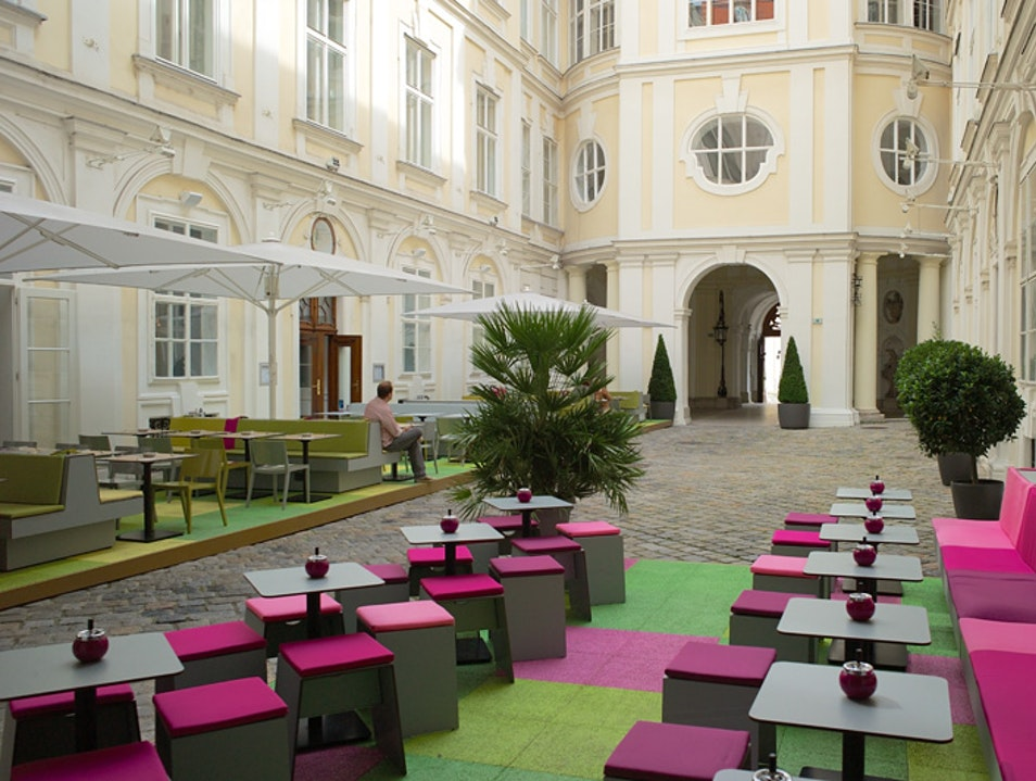 Hidden Bar Restaurant at Palais Harrach Vienna  Austria