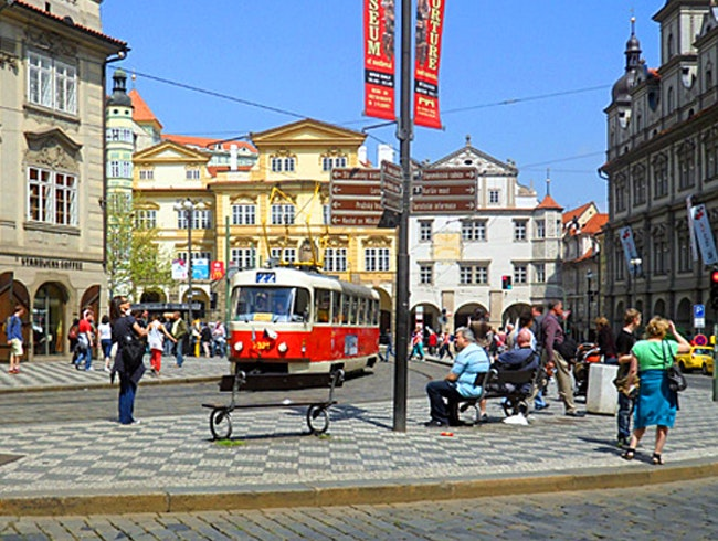 Tram travel in Prague