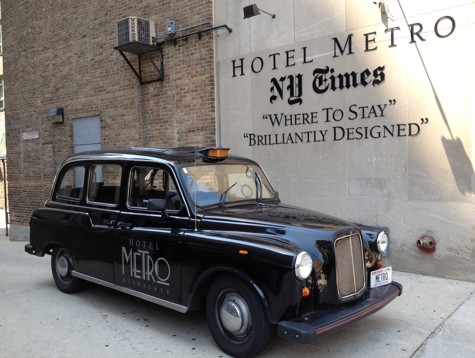 For a stay in Art Deco, check out the Hotel Metro Milwaukee Wisconsin United States