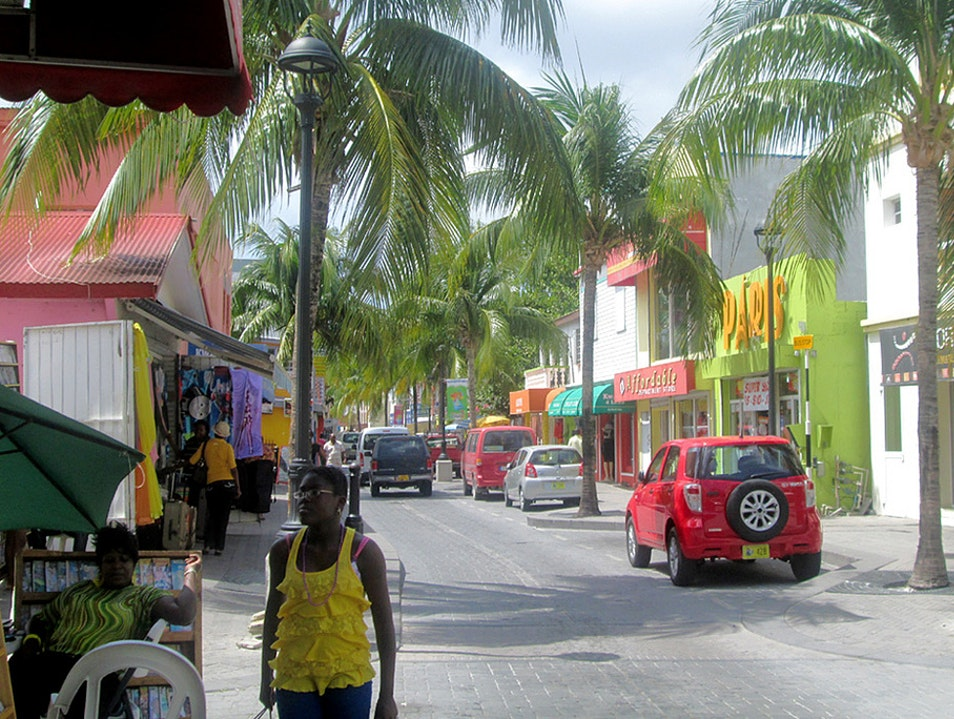 Bargain Shopping on Front and Back Streets Philipsburg  Sint Maarten