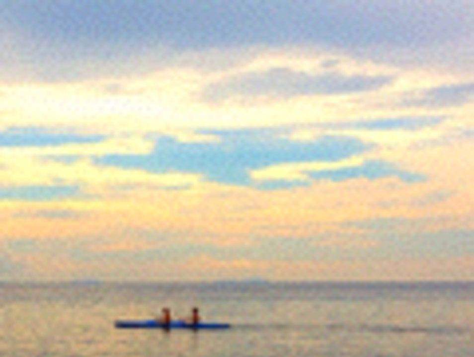 Happy Kayakers in the Perhentian Islands Besut  Malaysia