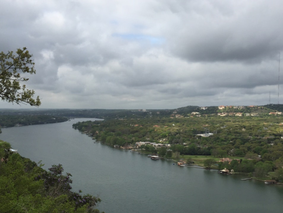 Views of the City and the Colorado River Austin Texas United States