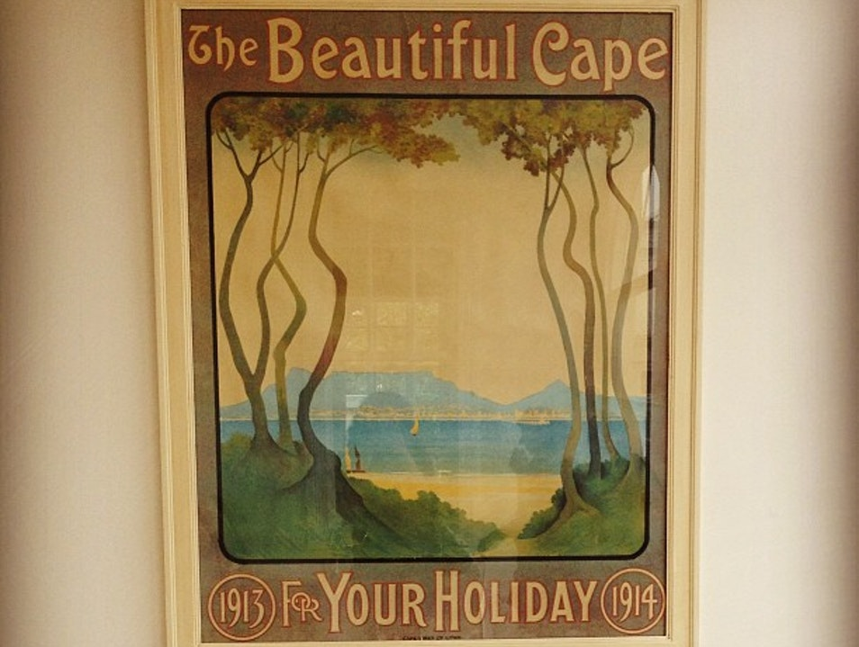 Vintage Cape Town Tourism Poster at Highlands Country House Cape Town  South Africa