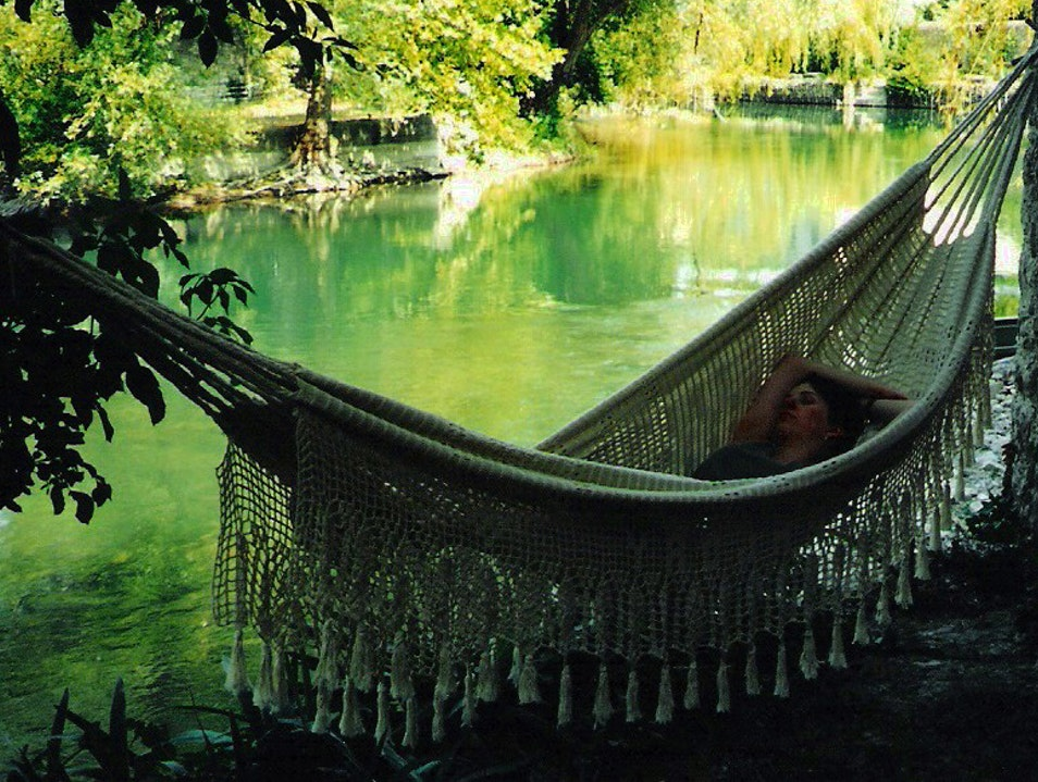 river, hammock...bliss: a stay along the Sorgue Le Thor  France