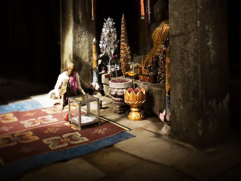 Smaller temple in the Angkor Wat complex Siem Reap  Cambodia