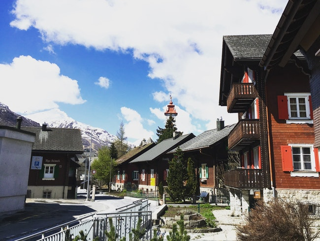 Exploring a Swiss Village