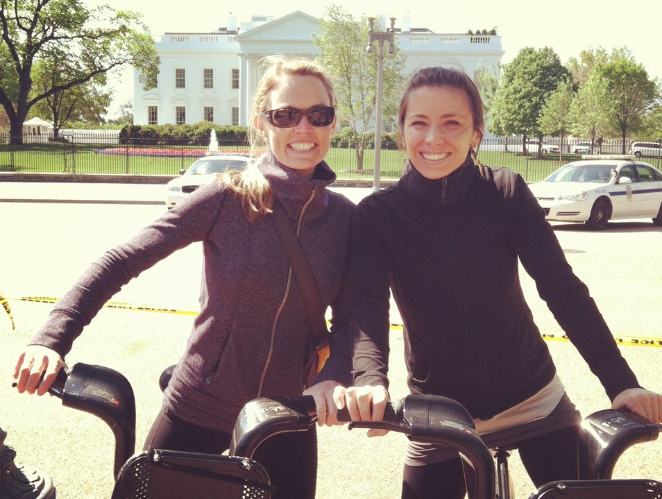 Two ladies, two wheels taking on the D.C.