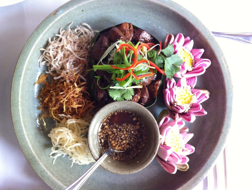 Try the piquant lok lak, Cambodian pepper beef Siem Reap  Cambodia