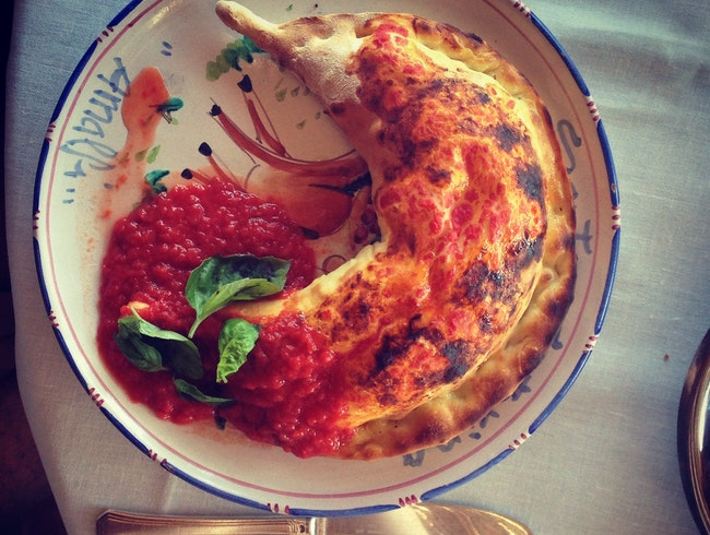 In Amalfi, the Best Calzone I've Ever Eaten