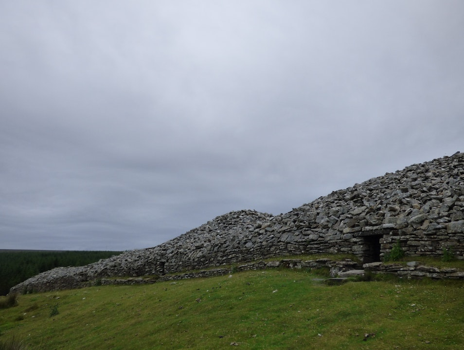 Camster Cairns - the oldest stone monuments in Scotland? Occumster  United Kingdom