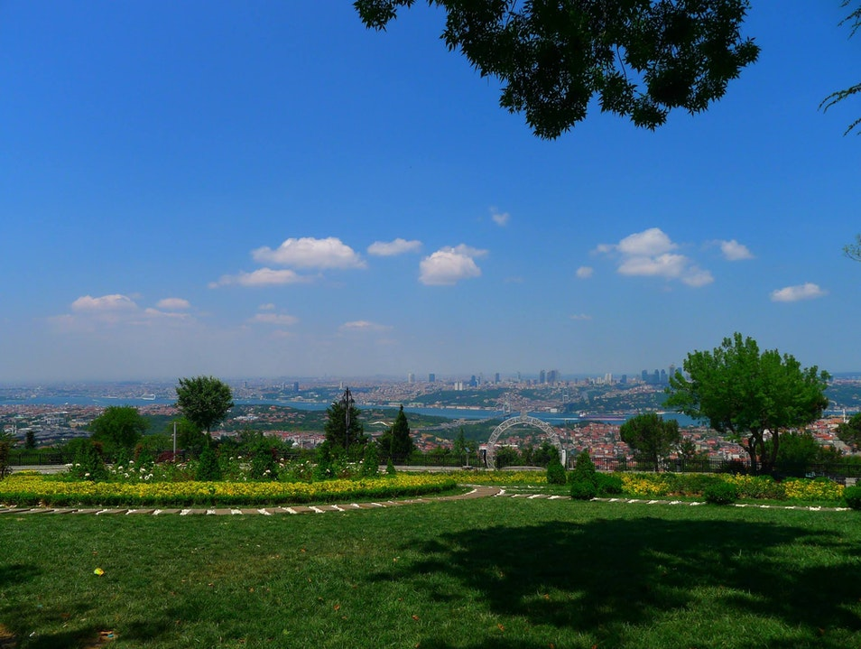 Great views of the city Istanbul  Turkey