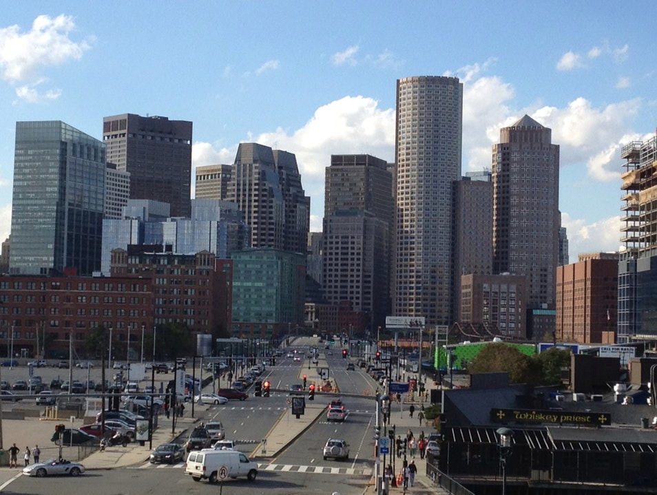 Sunny Boston Cityscape Boston Massachusetts United States