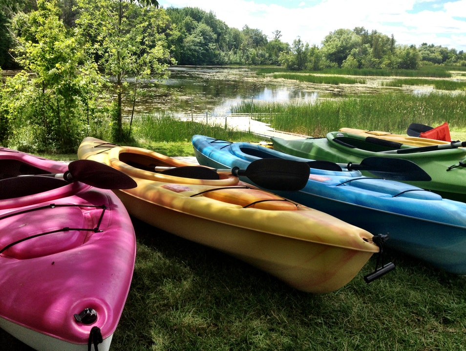 Kayaking in Alpena's Besser Natural Area and Wildlife Preserve Alpena Michigan United States