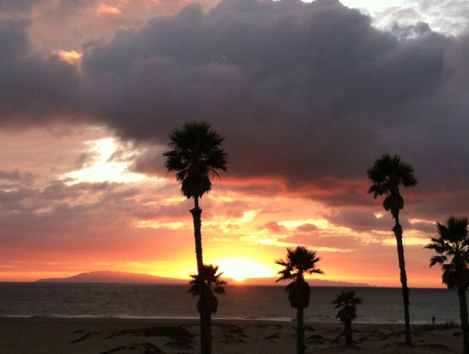 Sunset Over The Pacific Oxnard California United States
