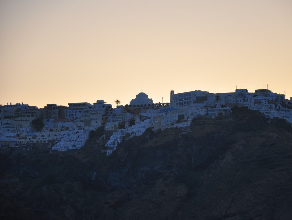 Thira in the morning Thira  Greece