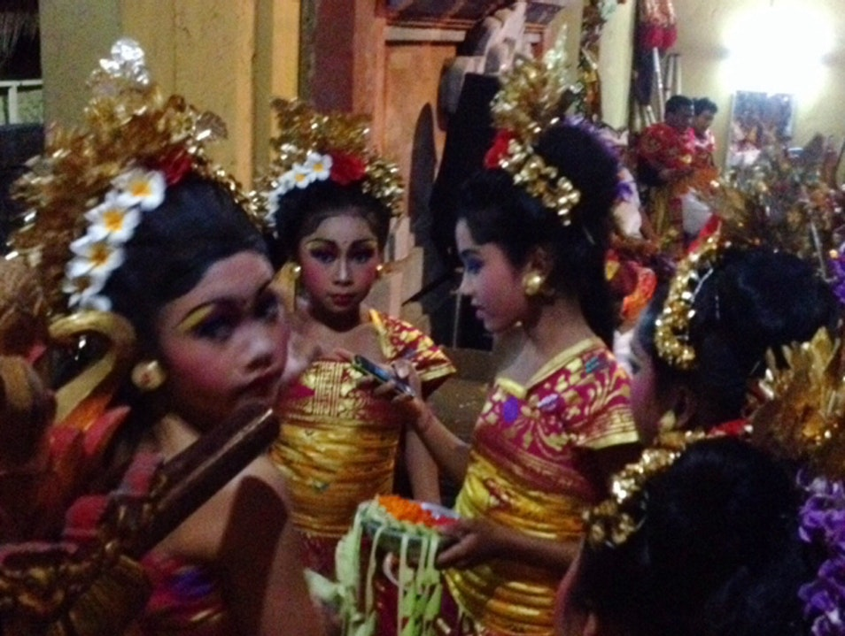 Backstage at an Odalan Istimewa in Ubud Ubud  Indonesia
