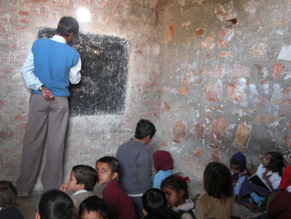 visit a school Sawai Madhopur  India