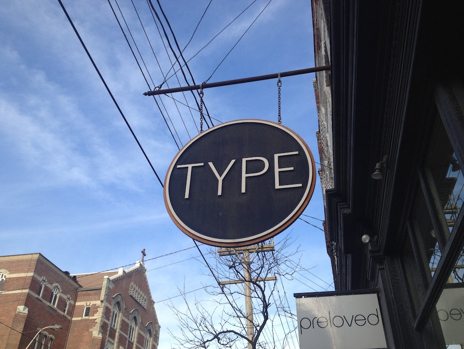 Favorite Downtown Bookstore: Type Books