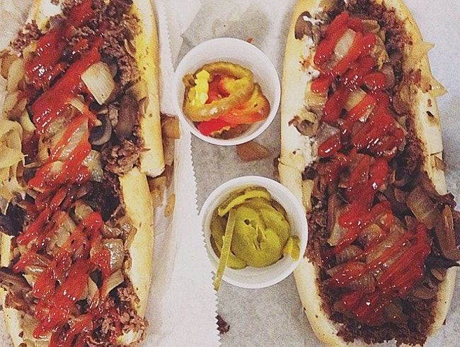 A Cheesesteak for the Party Animal at Jim's Steaks