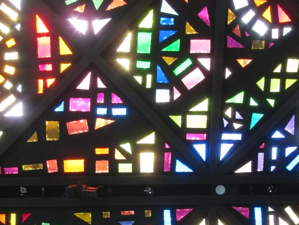 Stained Glass at the National Gallery of Victoria Melbourne  Australia