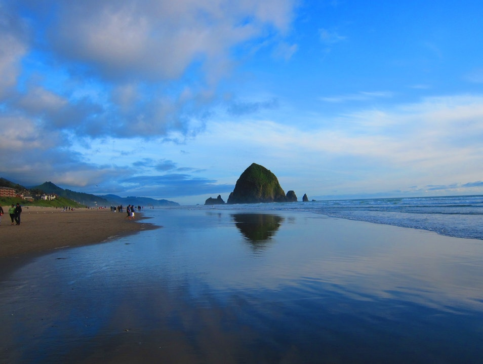 Leisurely stroll on Cannon Beach Cannon Beach Oregon United States