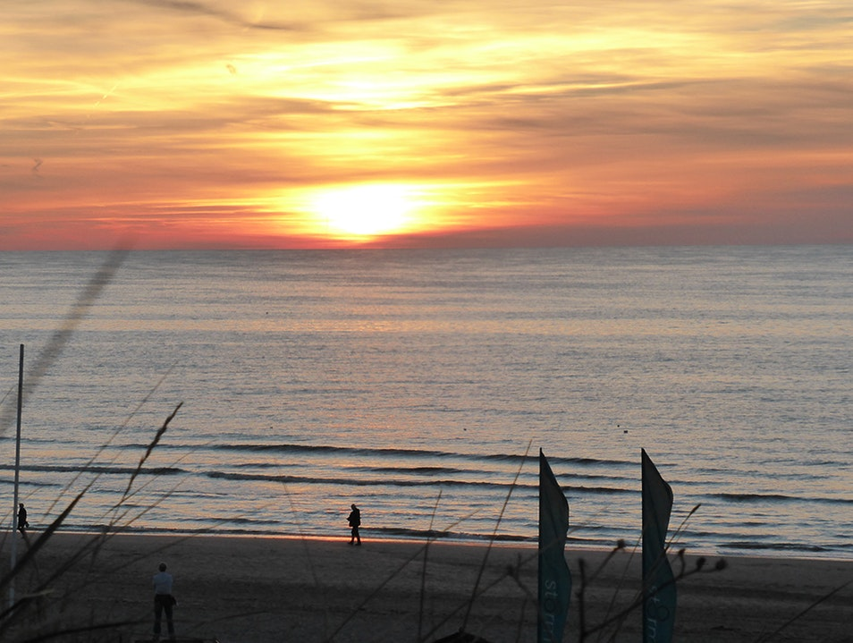 The stunning beach on the North Sea at Zaandvoort Zandvoort  The Netherlands