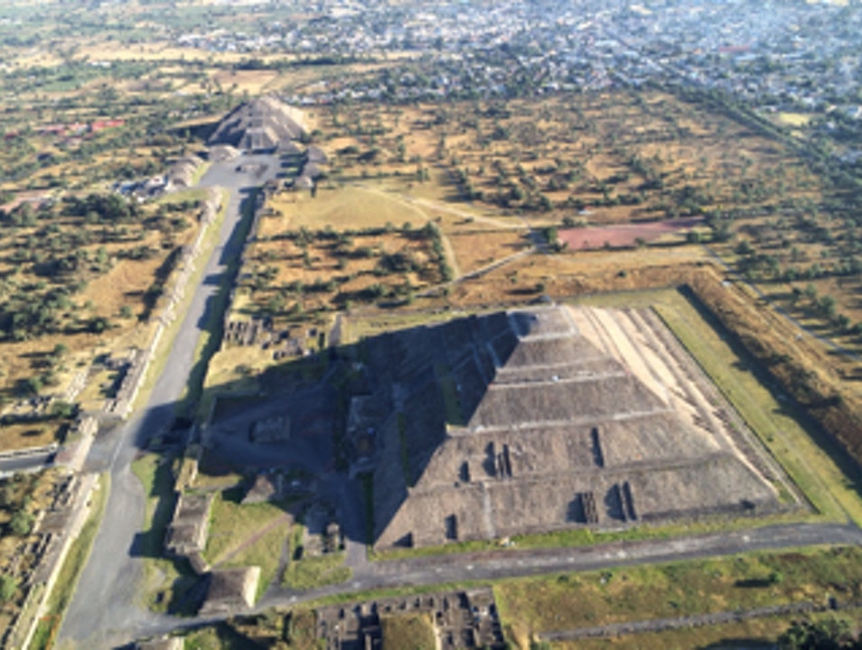 Ballooning Over Teotihuacan State of Mexico  Mexico