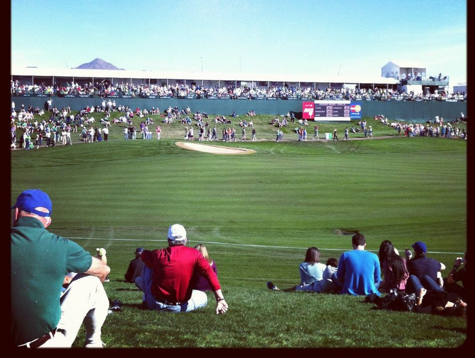 No Time Wasted at the Waste Management Open Scottsdale Arizona United States