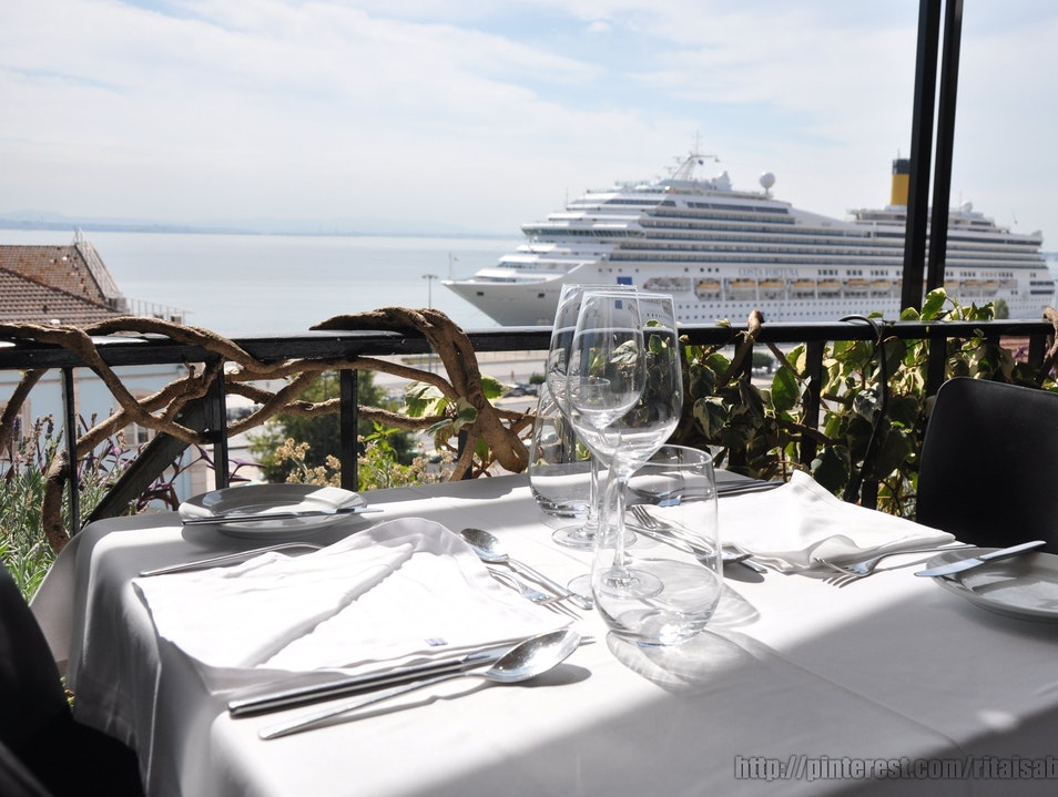 Haute Cuisine with a View of the River Lisbon  Portugal