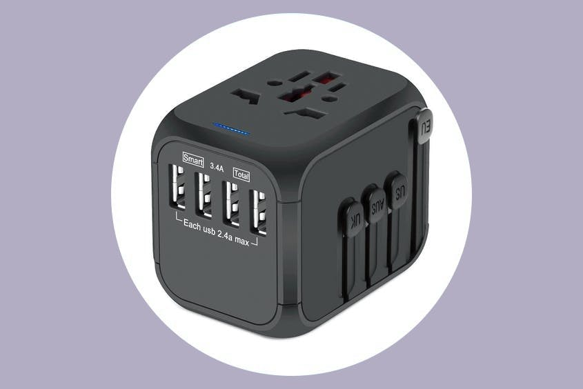 Travel adapters are a must-pack essential for international trips.