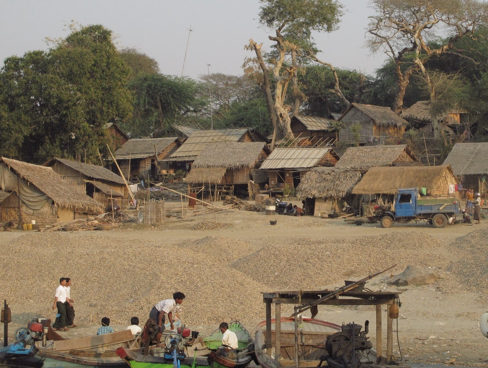 A small village on the Irrawaddy.