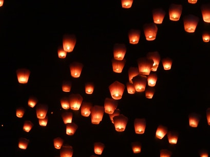 Pingxi Sky Lantern Festival Pingxi District  Taiwan
