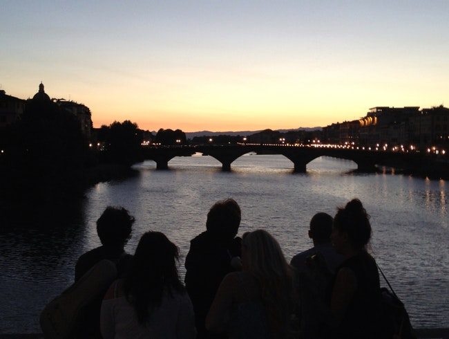 Sunset In Over The Arno