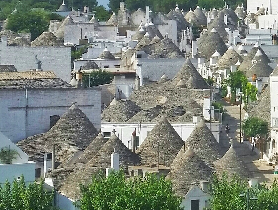 Skyline of Alberobello in Italy Alberobello  Italy