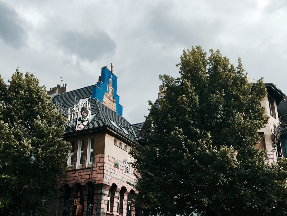 Street 'Museum' of Art - amazing painted houses Dusseldorf  Germany