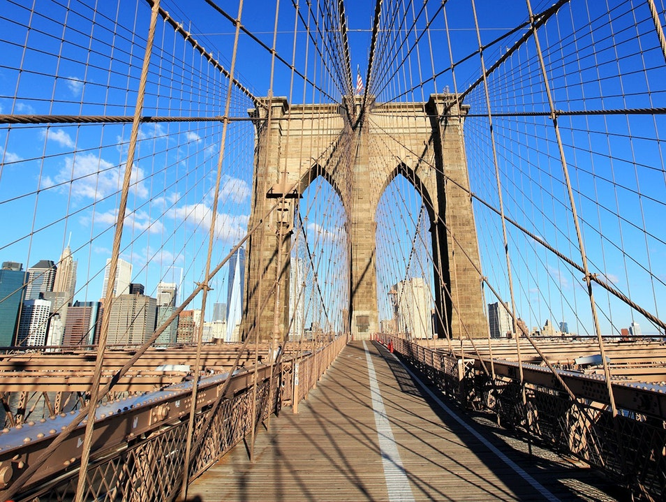 Walk Across the Brooklyn Bridge New York New York United States