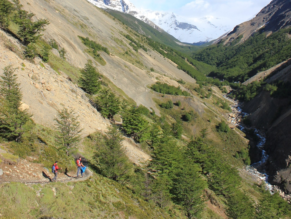 Trail to Torres del Paine  Torres del Paine  Chile